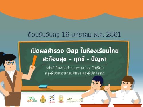"""ต้อนรับวันครู ผลสำรวจชี้ """"เด็กไทยต้องการความรักก่อนความรู้"""" คาดหวังให้ครูเป็นที่พึ่ง เหตุพ่อแม่ไม่มีเวลาให้"""