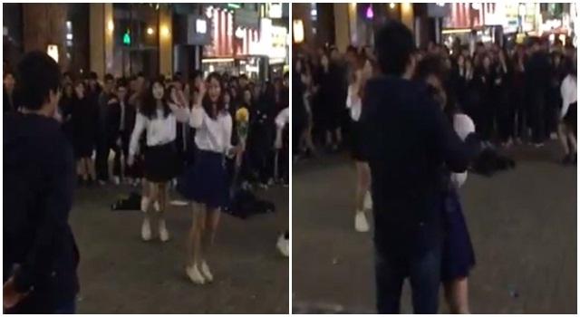 เกิดอะไรขึ้น เมื่อสาวลงทุนเต้น cover ขอหนุ่มแต่งงานกลางถนน