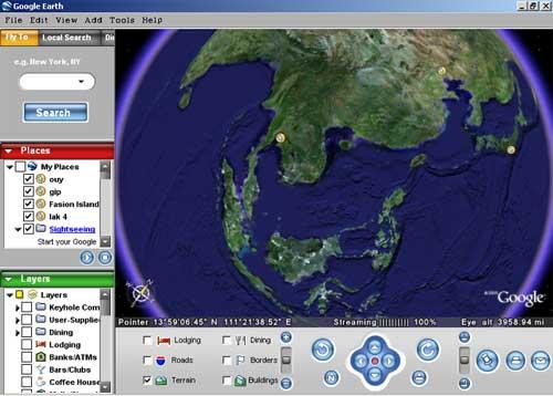 การใช้งานโปรแกรม Google Earth