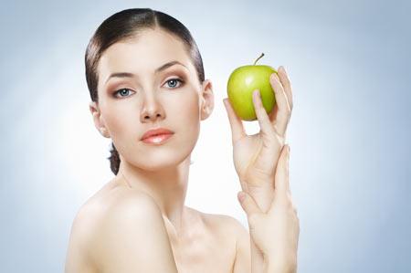 ผิวหน้าสวยด้วยแอปเปิ้ล