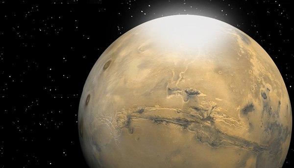"""พิสูจน์พบ """"น้ำแข็งแห้ง"""" เป็นหิมะตกบนดาวอังคาร"""