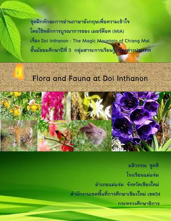 ชุดฝึกทักษะการอ่านภาษาอังกฤษเพื่อความเข้าใจ ม.3 เรื่อง Doi Inthanon : The Magic Mountain of Chiang Mai ผลงานครูมลิวรรณ ชูคดี
