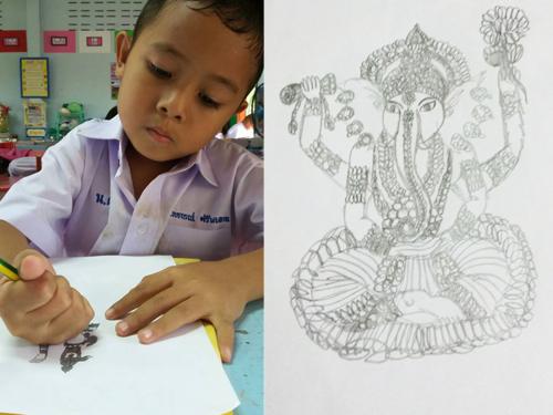 ครูทึ่ง ! เด็กป.1 ฝีมือบรรเจิด วาดภาพสวยเกินวัย-ความจำดีเลิศ