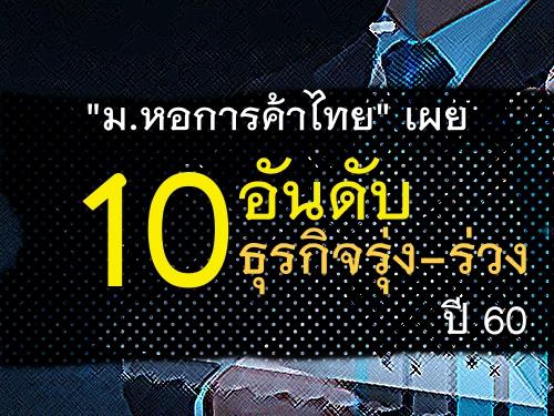 """""""ม.หอการค้าไทย""""เผย 10อันดับ ธุรกิจรุ่ง-ร่วงปี 60"""