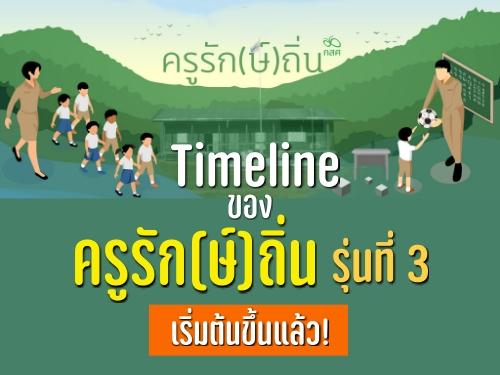 Timeline ของครูรัก(ษ์)ถิ่น รุ่นที่ 3 เริ่มต้นขึ้นแล้ว!