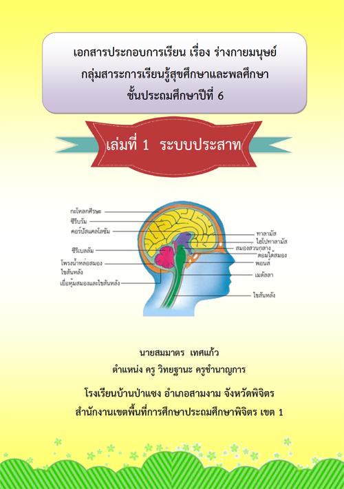 เอกสารประกอบการเรียน เรื่อง ระบบต่างๆ ของร่างกายมนุษย์ ผลงานครูสมมาตร เทศแก้ว