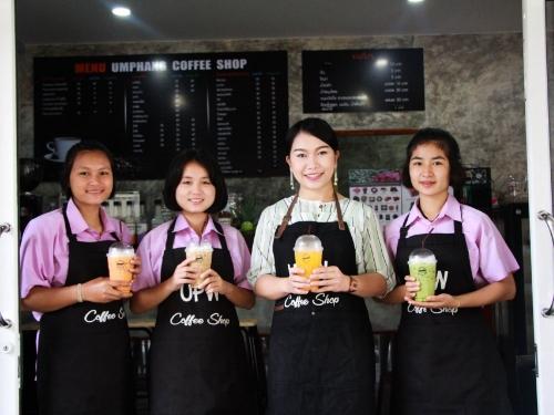 อุ้มผางวิทยาคม เปิดร้านกาแฟ อุ้มผางคอฟฟี่ช็อป ( Umphang Coffee Shop) ฝึกนักเรียนเป็นผู้ประกอบการ ส่งเสริมการมีงานทำในอนาคต
