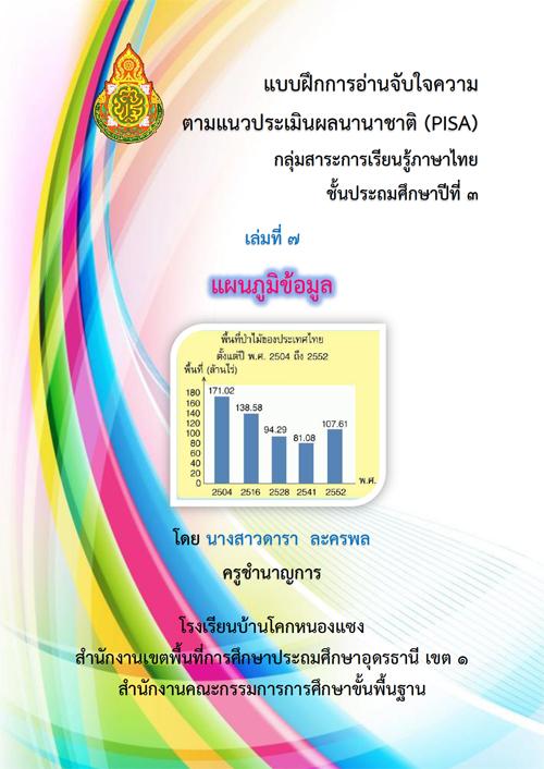 แบบฝึกการอ่านจับใจความตามแนวประเมินผลนานาชาติ (PISA) กลุ่มสาระการเรียนรู้ภาษาไทย ป.3 ผลงานครูดารา ละครพล