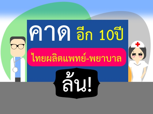 คาดอีก10ปีไทยผลิตแพทย์-พยาบาลล้น!