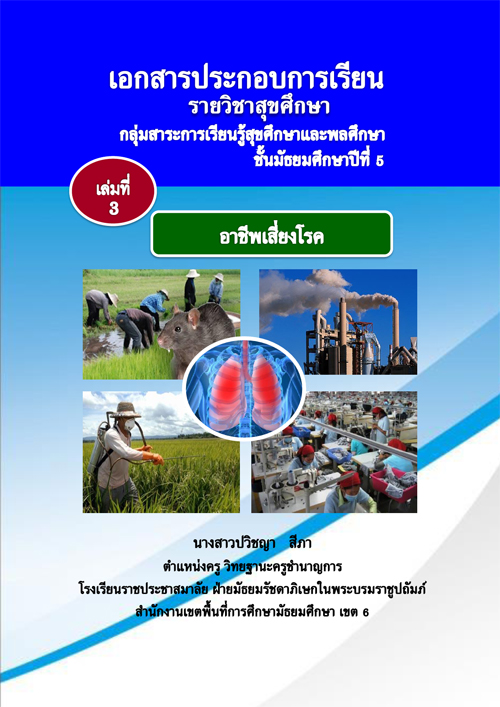 เอกสารประกอบการเรียน รายวิชาสุขศึกษา เล่มที่ 3 อาชีพเสี่ยงโรค ผลงานครูปวิชญา สีภา