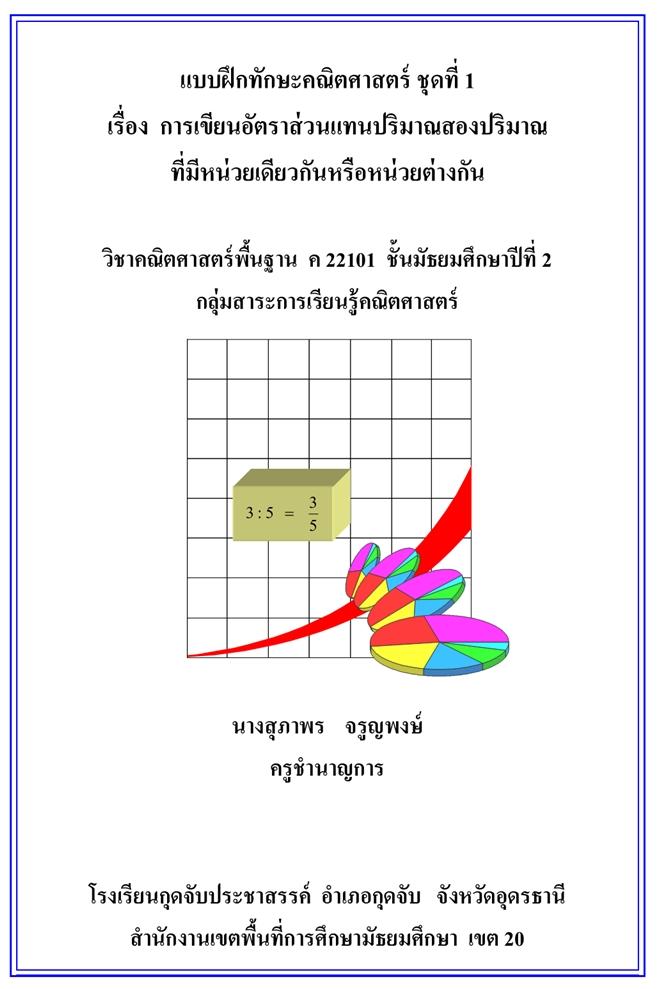 แบบฝึกทักษะคณิตศาสตร์ ม.2 ผลงานครูสุภาพร จรูญพงษ์