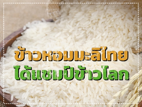 ข้าวหอมมะลิไทยได้แชมป์ข้าวโลก