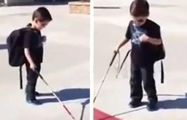 คลิป ดช ตาบอด 4 ขวบ ไม่ท้อชีวิต ใช้ไม้เท้าฝึกข้ามถนนเอง