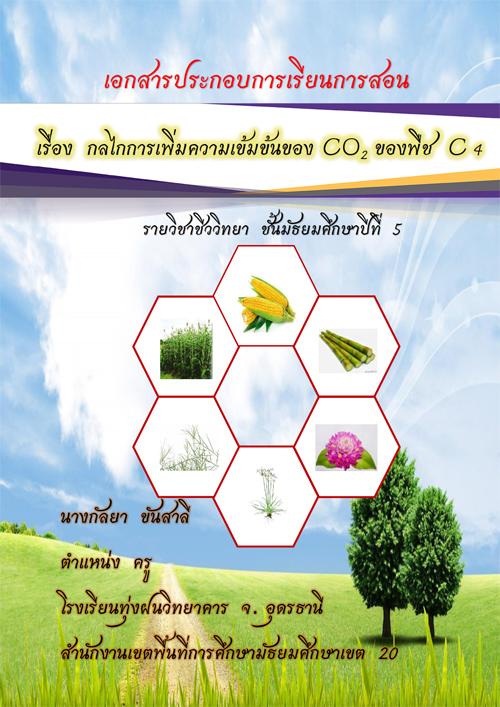 เอกสารประกอบการเรียนการสอน  เรื่อง  กลไกการเพิ่มความเข้มข้นของ CO2 ของพืช C4 ผลงานครูกัลยา  ขันสาลี