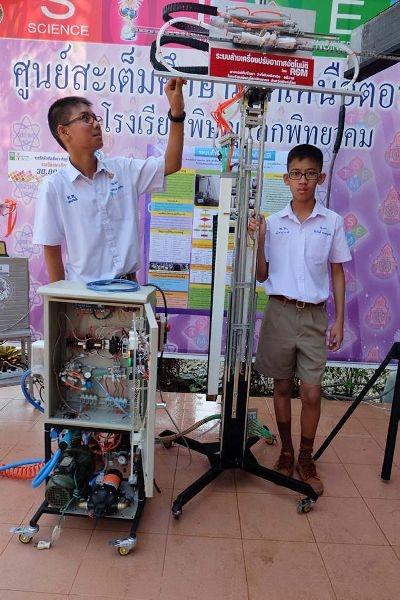 นักเรียน ม.2 ประดิษฐ์ หุ่นยนต์ล้างเครื่องปรับอากาศแบบอัตโนมัติ เน้นประหยัดเวลา ประหยัดเงิน