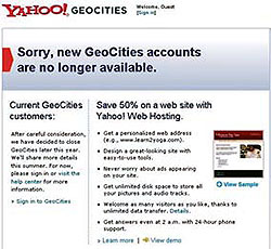 �Դ�ӹҹ Geocities �������š�Թ������