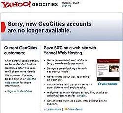 ปิดตำนาน Geocities ผู้แพ้ในโลกอินเตอร์เน็ต