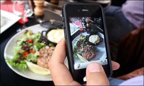 การถ่ายภาพอาหารด้วยสมาร์ทโฟนช่วยลดน้ำหนักได้