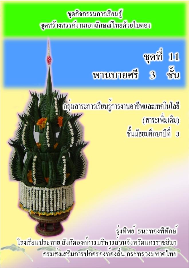 ชุดกิจกรรมการเรียนรู้   ชุดสร้างสรรค์งานเอกลักษณ์ไทยด้วยใบตอง ผลงานครูรุ่งทิพย์  ธนะทองพิทักษ์