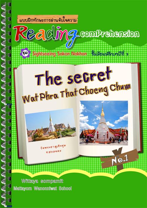 แบบฝึกทักษะการอ่านจับใจความ Reading Comprehension ผลงานครูวิทยา สมพมิตร