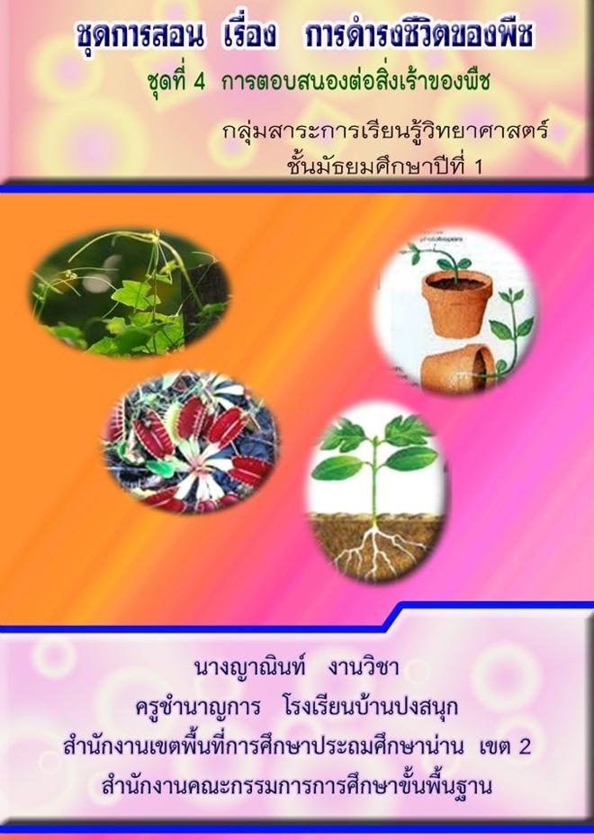 ชุดการสอน เรื่อง การดำรงชีวิตของพืช วิทยาศาสตร์ ม.1 ผลงานครูญาณินท์ งานวิชา