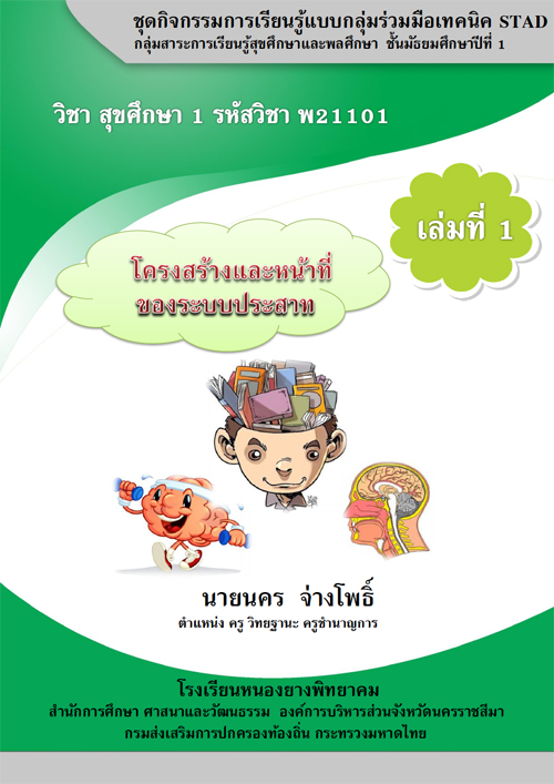 ชุดกิจกรรมการเรียนรู้ เล่มที่ 1 เรื่อง โครงสร้างและหน้าที่ของระบบประสาท ผลงานครูนคร จ่างโพธิ์