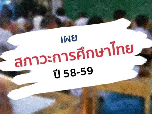 เผยสภาวะการศึกษาไทยปี 58-59