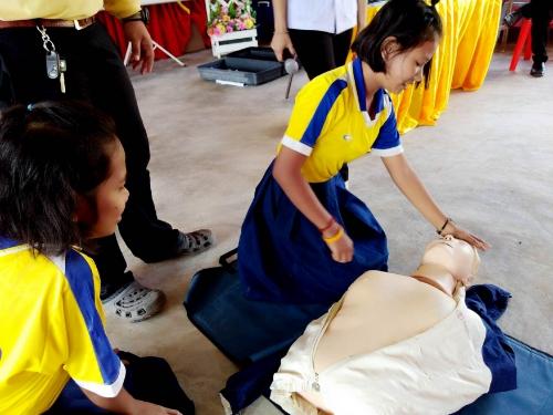 โรงเรียนบ้านเขาแก้ว สพป.กระบี่  เพิ่มเวลารู้ให้นักเรียนเรียนรู้การปฐมพยาบาลเบื้องต้น ปลูกฝังให้นักเรียนมีจิตสาธารณะ