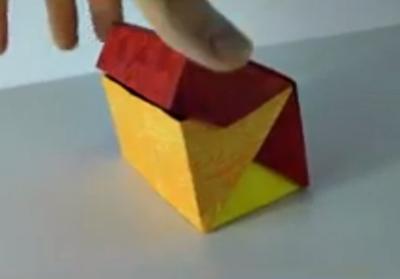 เทคนิคการพับกล่องแบบมีฝา จากกระดาษไว้สอนนักเรียนครับ
