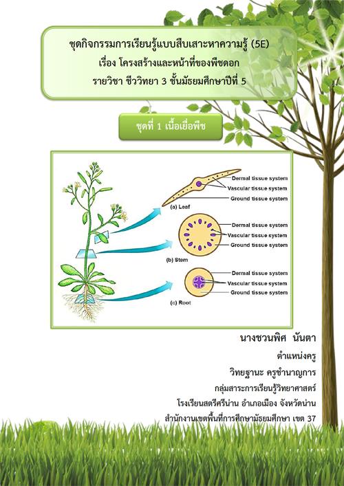 ชุดกิจกรรมการเรียนรู้แบบสืบเสาะหาความรู้ (5E) เรื่อง โครงสร้างและหน้าที่ของพืชดอก ผลงานครูชวนพิศ  นันตา