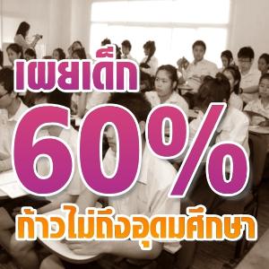 เผยเด็ก60%ก้าวไม่ถึงอุดมศึกษา