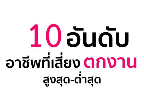 """10 อาชีพเสี่ยงตกงาน """"สูง""""!!!"""