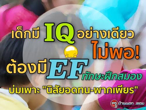 """เด็กมี IQ อย่างเดียวไม่พอ! ต้องมี EF ทักษะฝึกสมองบ่มเพาะ """"นิสัยอดทน-พากเพียร"""""""
