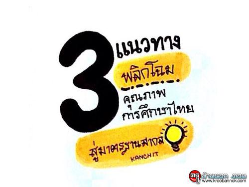 """3 แนวทาง""""พลิกโฉม""""คุณภาพการศึกษาไทยสู่มาตรฐานสากล"""