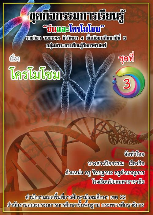 ชุดกิจกรรมการเรียนรู้รายวิชาชีววิทยา เรื่อง ยีนและโครโมโซม ผลงานครูปิยวรรณ เรืองกิจ