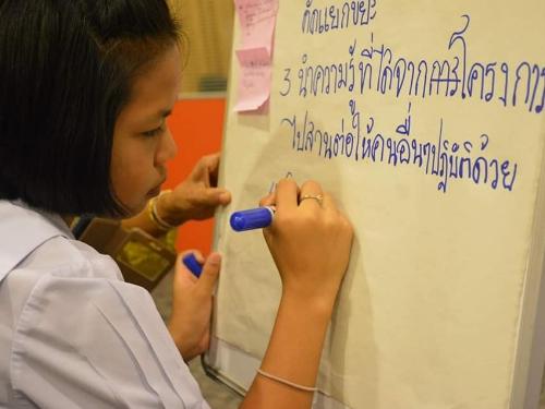 นักเรียนโรงเรียนวัดเขากลายร่วมแลกเปลี่ยนเรียนรู้บูรณาการ การจัดการขยะอย่างยั่งยืน