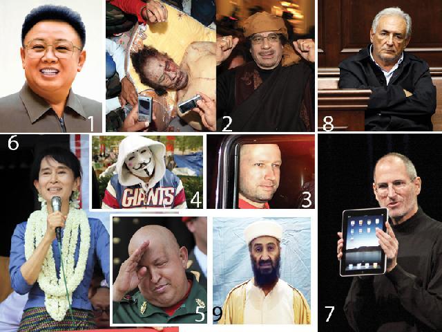 ฮีโร่&วายร้าย คนเด่นโลกปี 2554