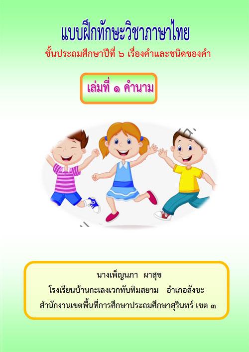 แบบฝึกทักษะภาษาไทย เรื่อง คำและชนิดของคำ ผลงานครูเพ็ญนภา ผาสุข