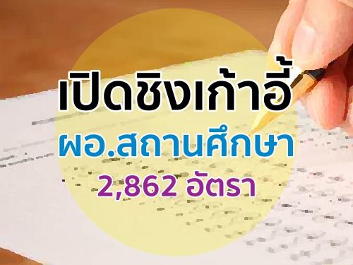 เปิดชิงเก้าอี้ ผอ.สถานศึกษา 2,862 อัตรา