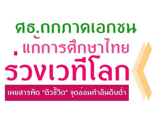 ศธ.ถกภาคเอกชนแก้การศึกษาไทยร่วงเวทีโลก เผยสารพัด 'ตัวชี้วัด' จุดอ่อนทำอันดับต่ำ