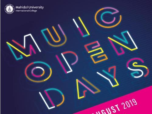 มหิดลอินเตอร์ขอเชิญน้องๆ มาร่วมงาน MUIC Open Days 2019 ภายใต้แนวคิด The Matter of Being Different
