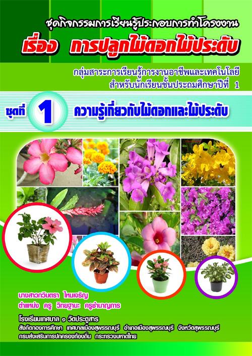 ชุดกิจกรรมการเรียนรู้ประกอบการทาโครงงาน เรื่อง การปลูกไม้ดอกไม้ประดับ ผลงานครูกวินตรา ไหมเจริญ