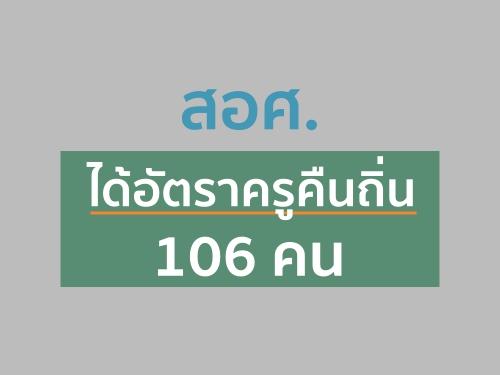 สอศ.ได้อัตราครูคืนถิ่น 106 คน